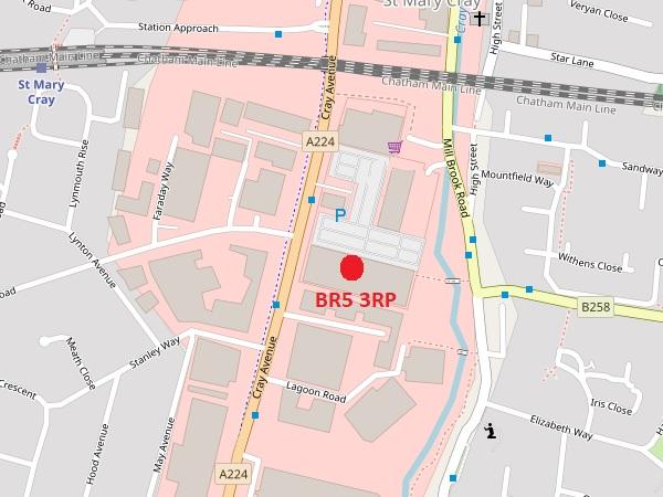 Orpington map