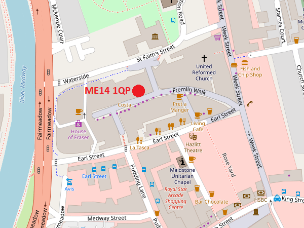 Maidstone Map