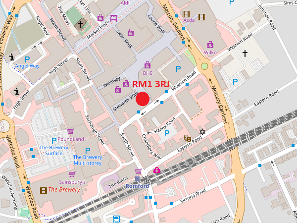 Romford map