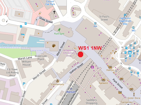 Walsall map