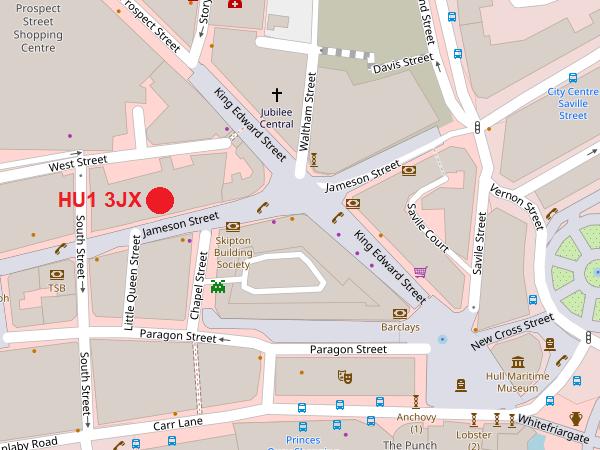 Hull City map