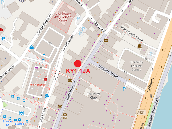 Kirkcaldy map