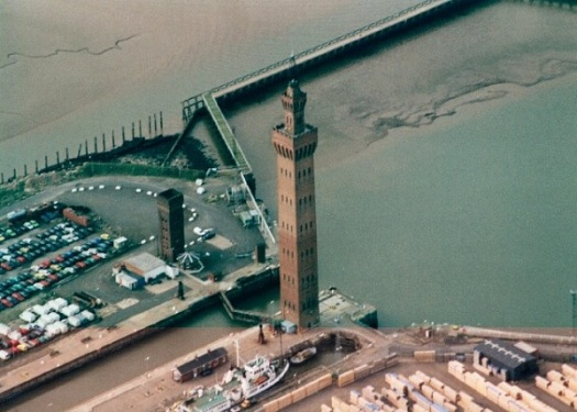 Grimsby Dock Tower - photo owned by Colin Westley used under Wikipedia Commons Licence