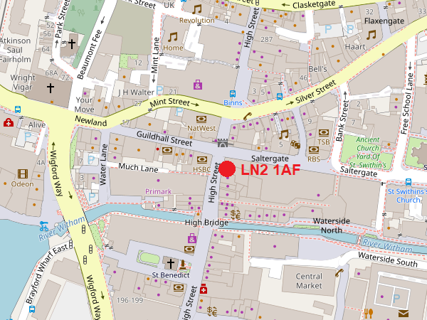 Lincoln High Street Map