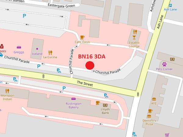 Rustington map