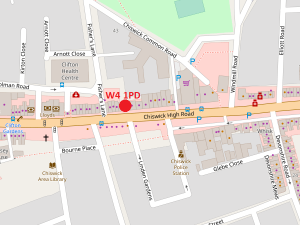 Chiswick map