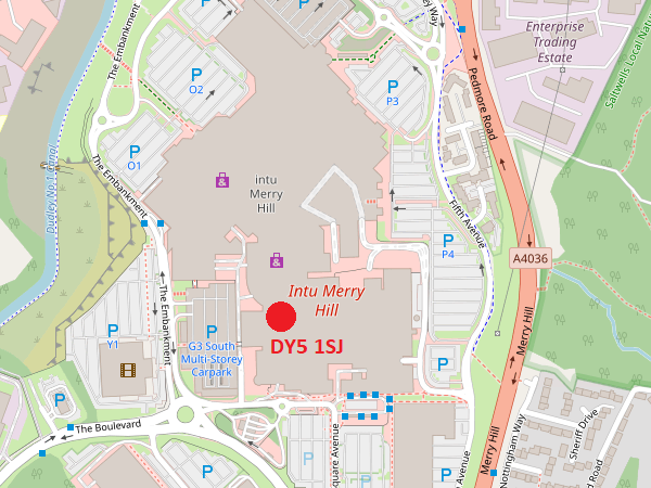 Merry Hill map