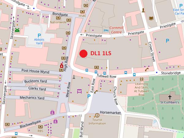 Darlington map