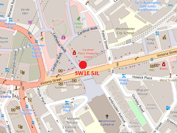 London Victoria map